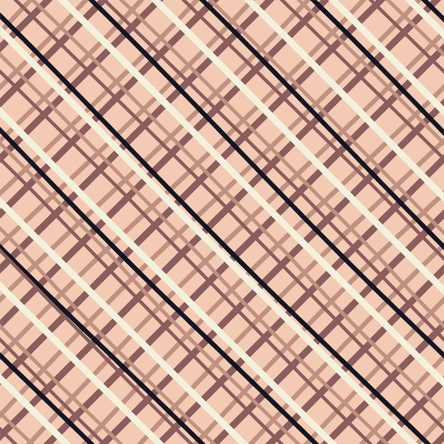 Seamless gingham xadrez pattern cottagecore cores pastel desenhando em fundo marrom