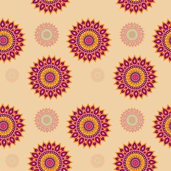 Seamless mandala pattern background.
