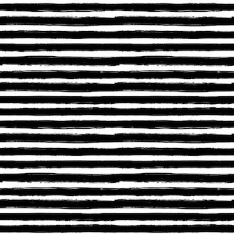 Seamless no fundo branco com linha de mão preta desenhada