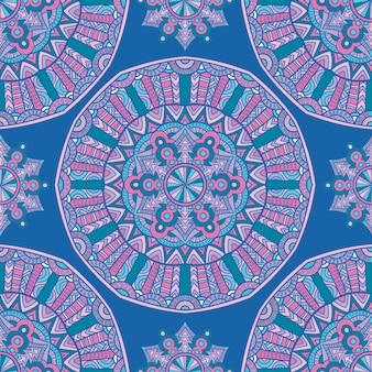 Seamless pattern mandala vector design para impressão. ornamento tribal.