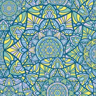 Seamless pattern mandala vintage design para impressão. ornamento tribal.