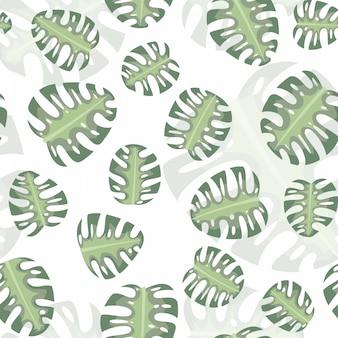 Seamless pattern monstera