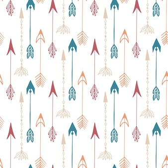 Seamless pattern of vintage arrow
