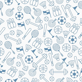 Seamless pattern with sport theme