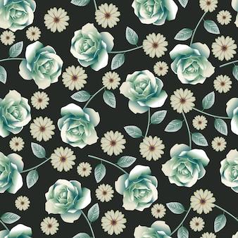 Seamless_rose_pattern_green