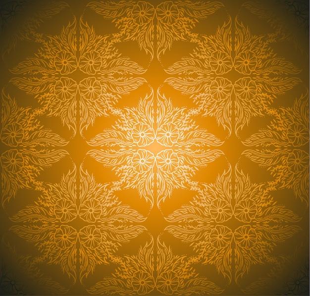 Seamlessly damask wallpaper