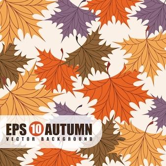 Seasons design sobre ilustração vetorial de fundo bege