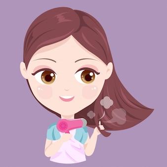 Secador de cabelo menina