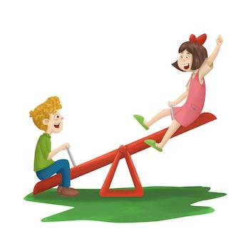 See saw playground