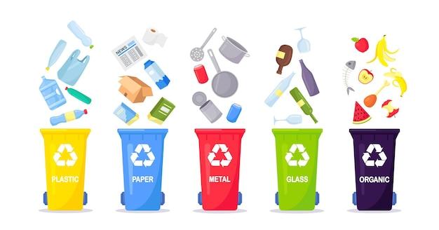 Segregação e reciclagem de coleta de lixo