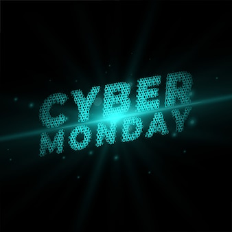 Segunda-feira cibernética, escrita no banner de estilo de tecnologia