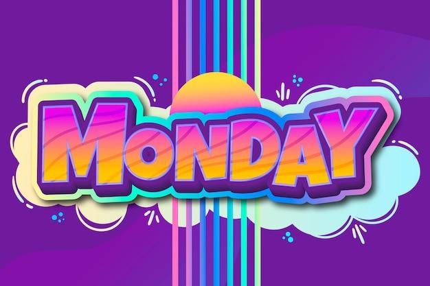 Segunda-feira - fundo