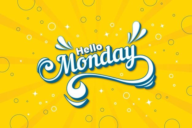 Segunda-feira tem um bom dia fundo amarelo