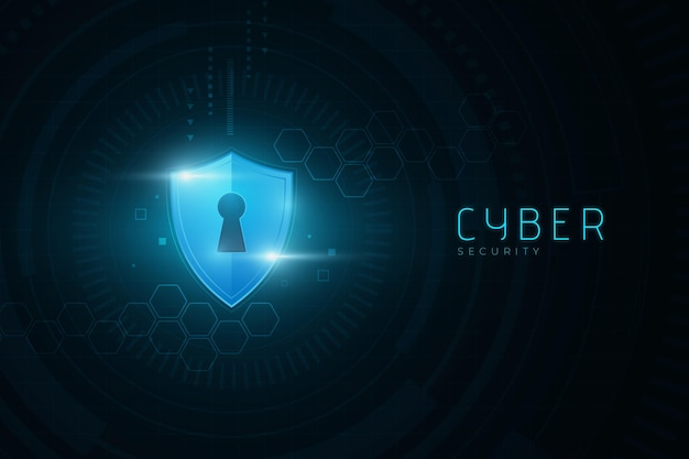 Segurança cibernética com conceito de bloqueio digital