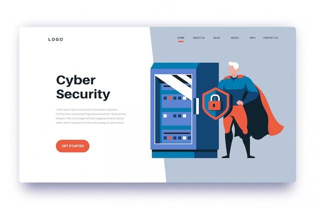 Segurança cibernética da página de destino