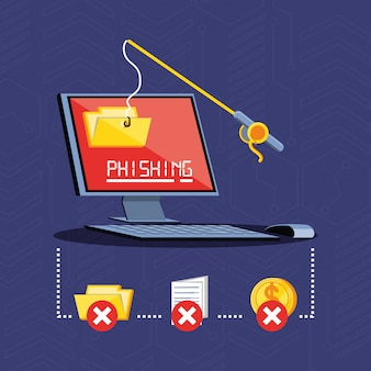 Segurança cibernética de computadores desktop