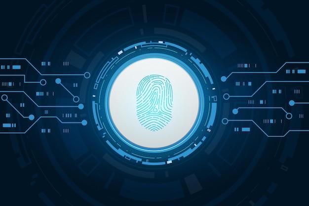 Segurança cibernética e controle de senha por meio de impressões digitais