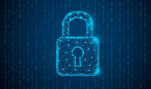 Segurança cibernética e proteção de informações ou rede serviços da web de tecnologia cibernética do futuro