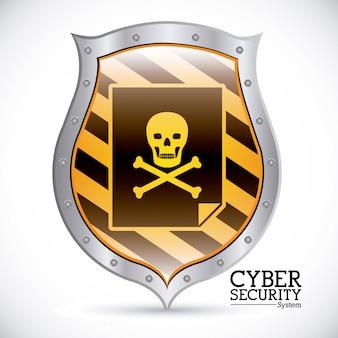 Segurança cibernética, escudo de aviso