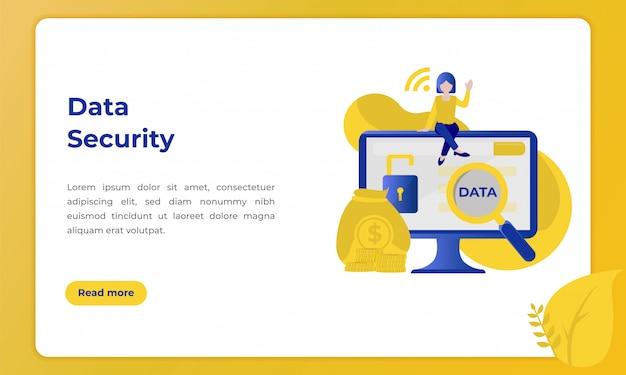Segurança de dados do cliente, ilustração com o tema do setor bancário