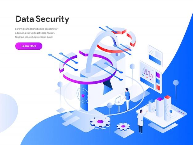 Segurança de dados isométrica
