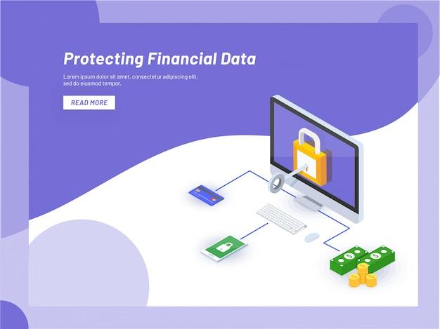 Segurança de dados monetários online.