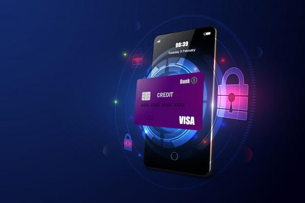 Segurança de pagamento online via smartphone
