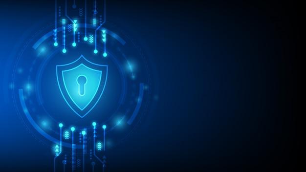 Segurança de tecnologia cibernética, design de plano de fundo de proteção netwok