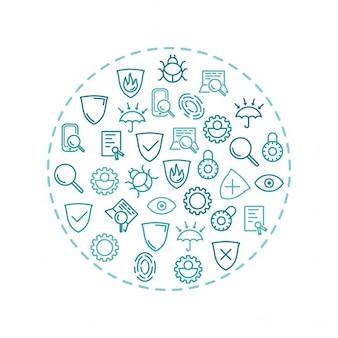 Segurança de tecnologia e ti no círculo