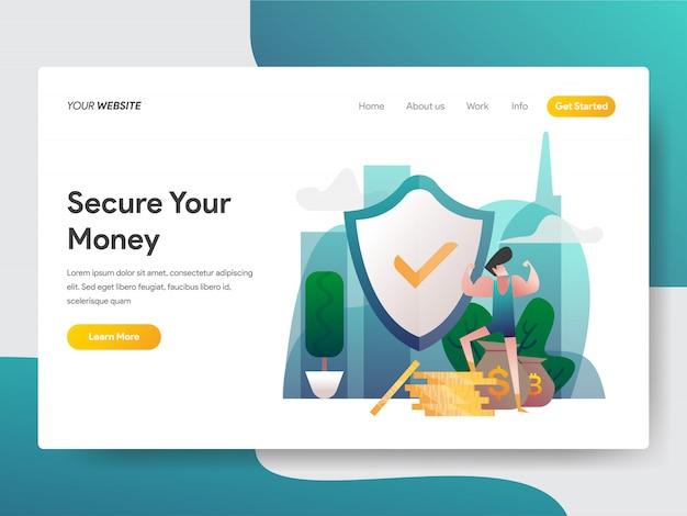 Segurança monetária para a página da web