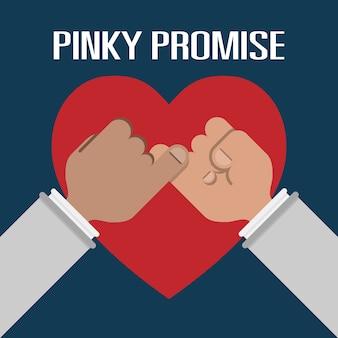 Segure o dedo mindinho é promessa média