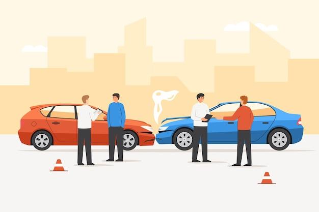 Seguro de colisão e acidente de automóvel