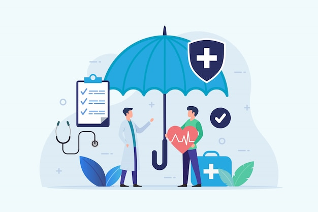 Seguro de saúde com proteção de guarda-chuva