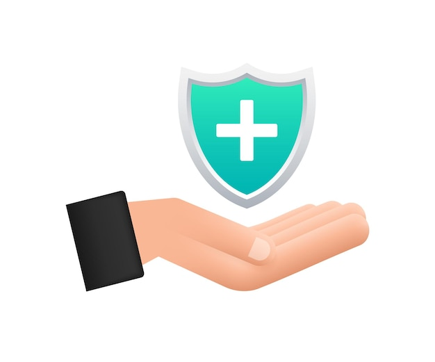 Seguro de saúde mãos segurando uma placa de seguro conceitos de seguro médico de proteção médica