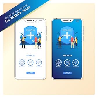 Seguro de saúde para aplicativos móveis