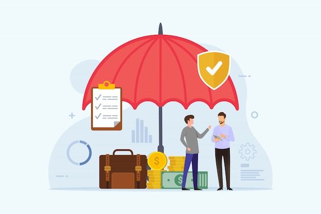 Seguro empresarial com proteção de guarda-chuva
