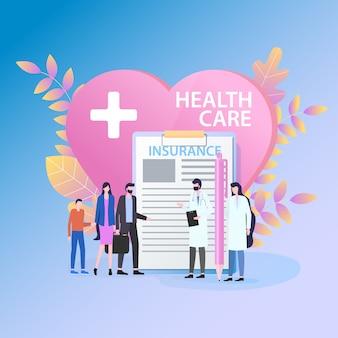 Seguro médico de cuidados de saúde médico feminino de enfermeira