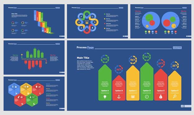 Seis conjuntos de modelos de slide de contabilidade