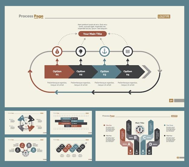 Seis diagramas de treinamento conjunto de modelos de slides