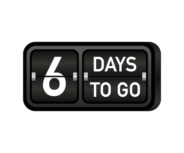 Seis dias para o fim, relógio, banner com emblema