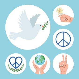 Seis ícones da paz