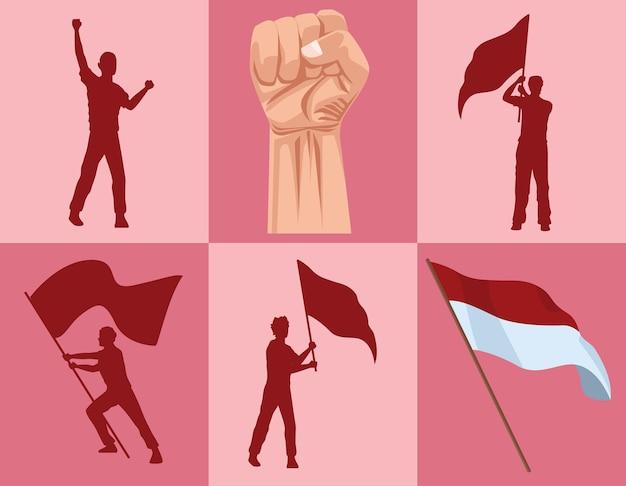 Seis ícones merdeka