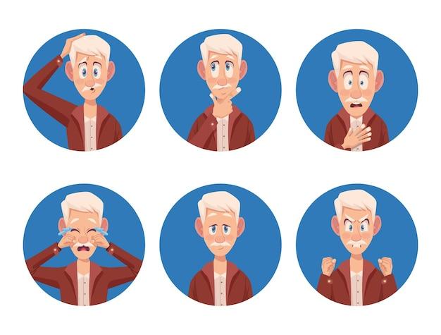 Seis idosos com alzheimer