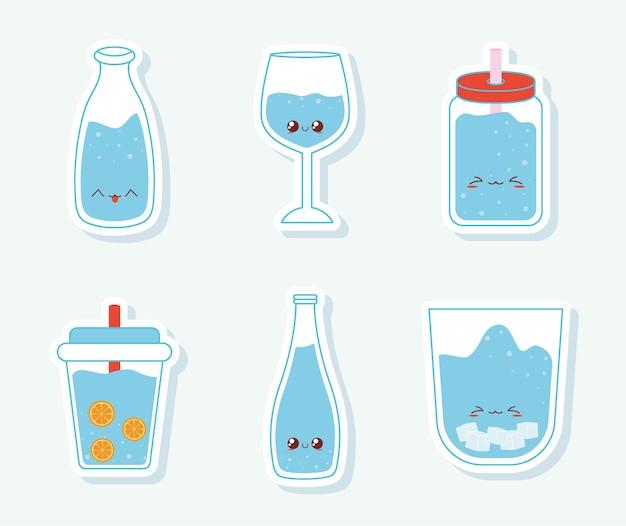 Seis itens de água