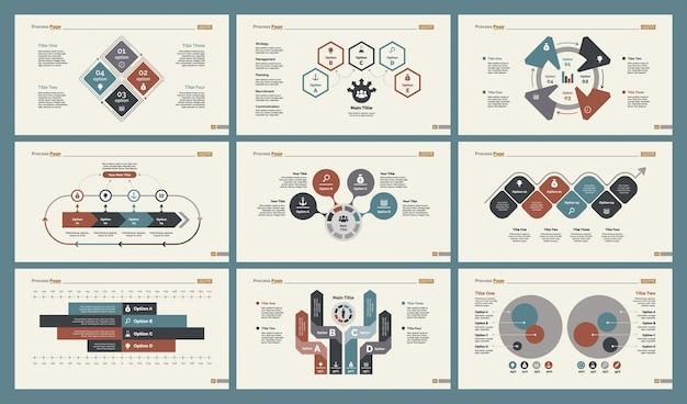 Seis modelos de diagramas de economia de gráficos de economia