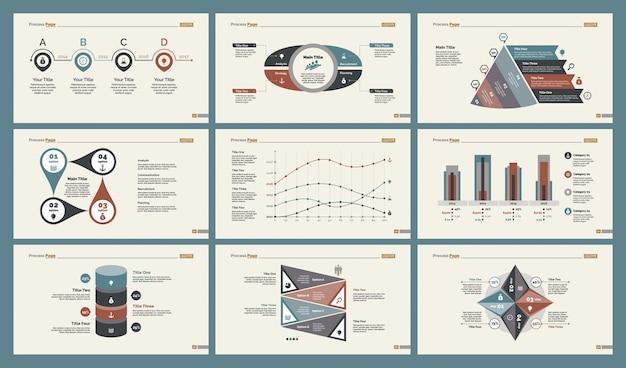Seis modelos de tabelas de contabilidade conjunto de modelos de slides