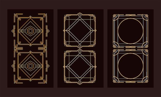Seis molduras douradas