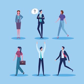 Seis personagens de empresários