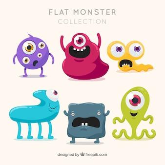 Seis personagens de monstros