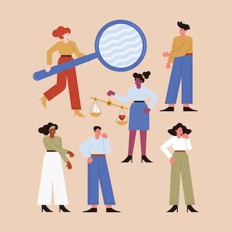 Seis personagens de pessoas de ética nos negócios